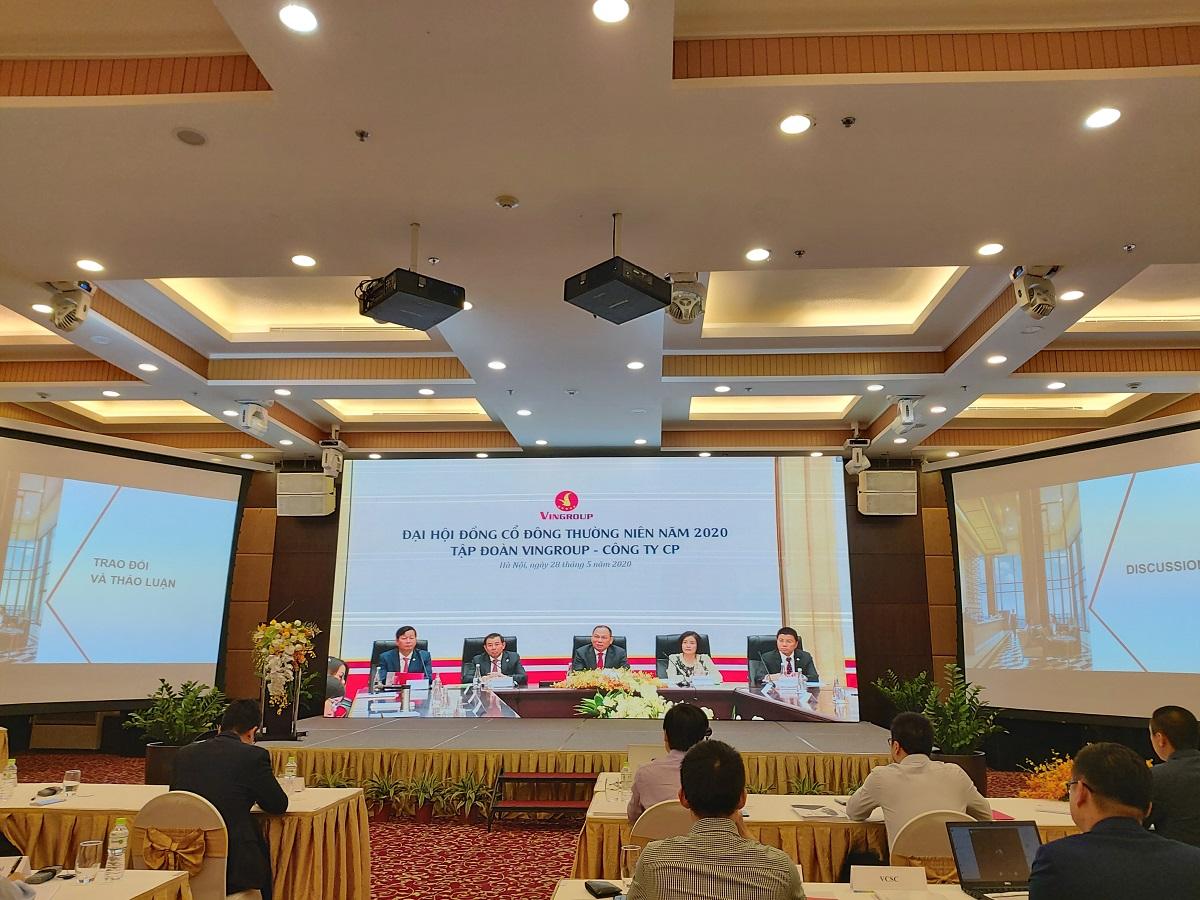 Kỳ họp Đại hội đồng cổ đông thường niên năm 2020 Tập đoàn Vingroup được tổ chức theo hình thức truyền hình trực tuyến